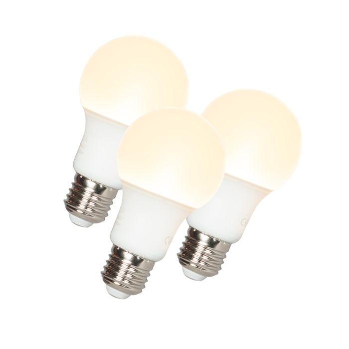 3er-Set-LED-Leuchtmittel-E27-9W/-810Lumen-3000K-warmweiß