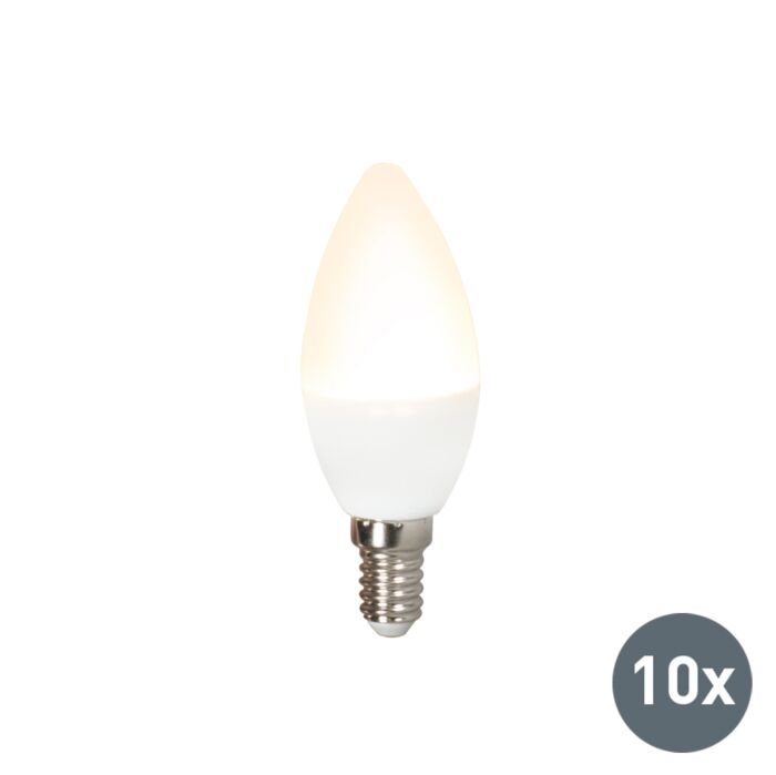 Set-aus-10-LED-Lampen-C37-E14-3W-3000K