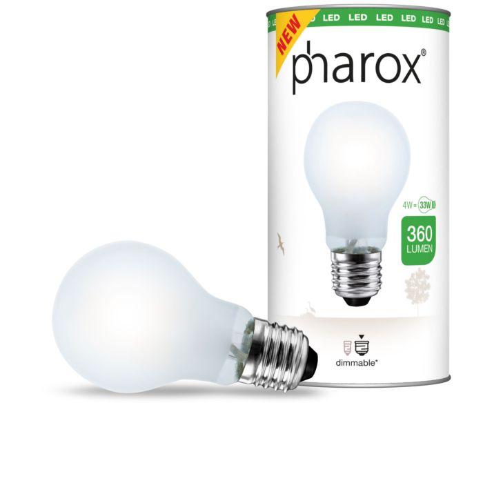 Pharox-LED-E27-Leuchtmittel-matt-4Watt-/-360-Lumen-dimmbar