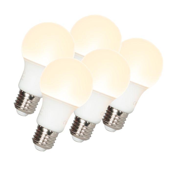 5er-Set-LED-Leuchtmittel-E27-9W/810-Lumen-3000K-warmweiß