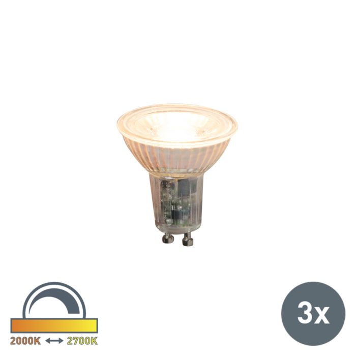 3er-Set-GU10-dimmbare-LED-Lampen-5.5W-360lm-2000K---2700K