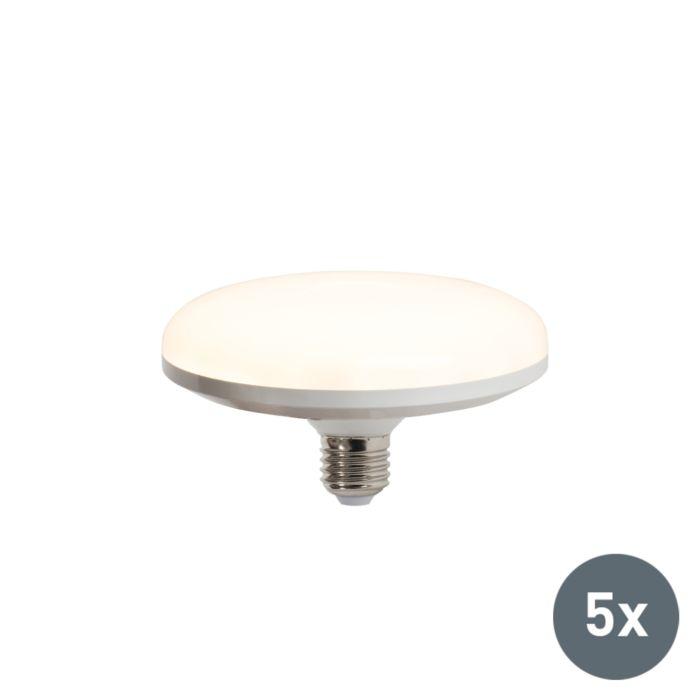 5er-Set-LED-Leuchtmittel-E27-18W-warmweiß---UFO