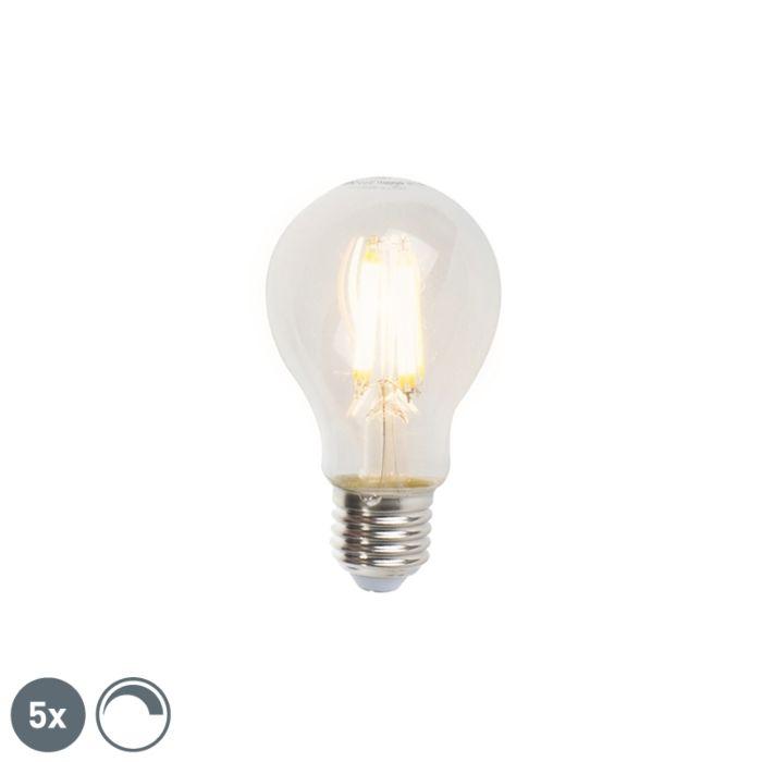 5er-Set-E27-dimmbare-LED-Lampen-A60-7W-806lm-2700K