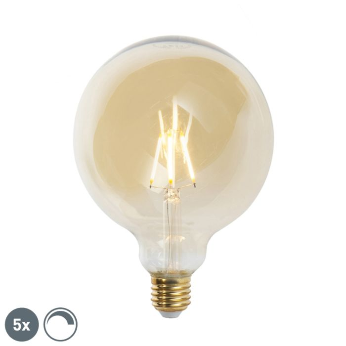 5er-Set-E27-dimmbare-LED-Glühlampen-G125-goldline-2200K