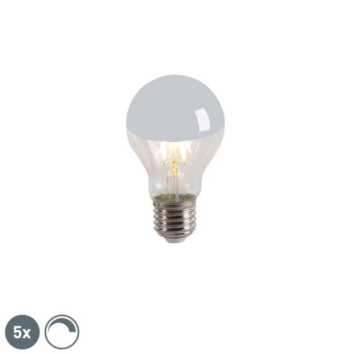 5er-Set-LED-Leuchtmittel-verspiegelt-E27-240V-4W-300lm-A60-dimmbar