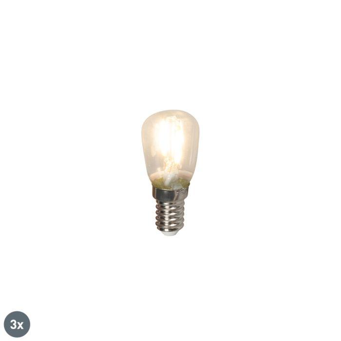 3er-Set-E14-LED-Glühlampen-T26-1W-100lm-2700-K