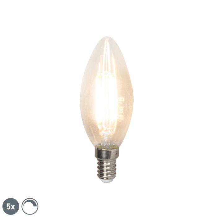 Set-mit-5-dimmbaren-LED-Glühlampen-E14-350-lm-2700K