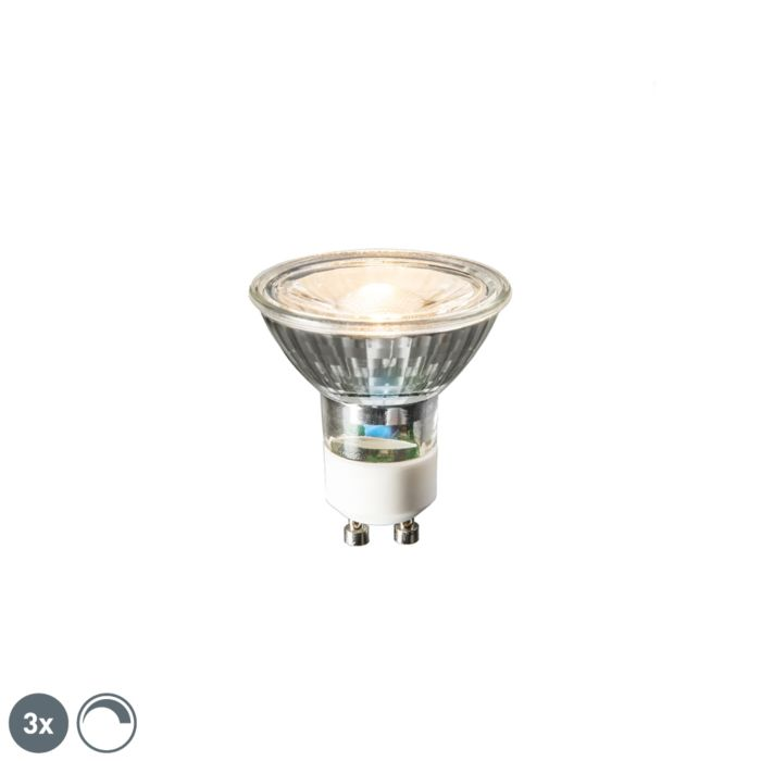 Set-mit-3-GU10-LED-Lampen-6W-450-Lumen-2700K-dimmbar