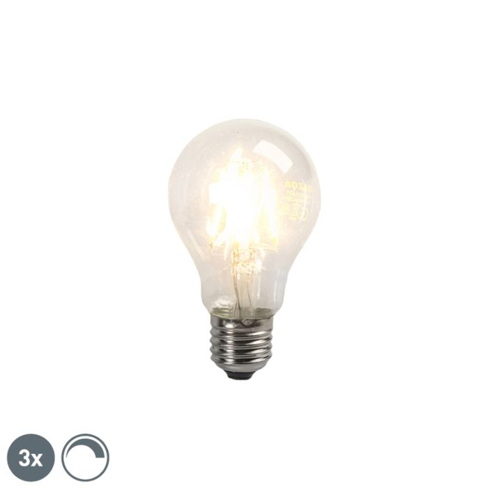 3er-Set-LED-Glühlampen-E27-4W-390lm-dimmbar