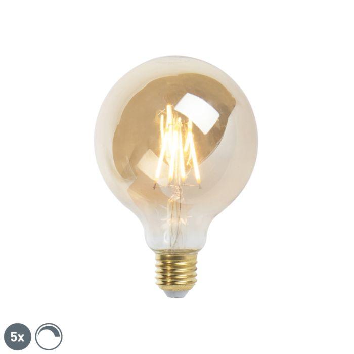 5er-Set-E27-dimmbare-LED-Glühlampe-9,5-cm-5W-360-Lumen-2200K