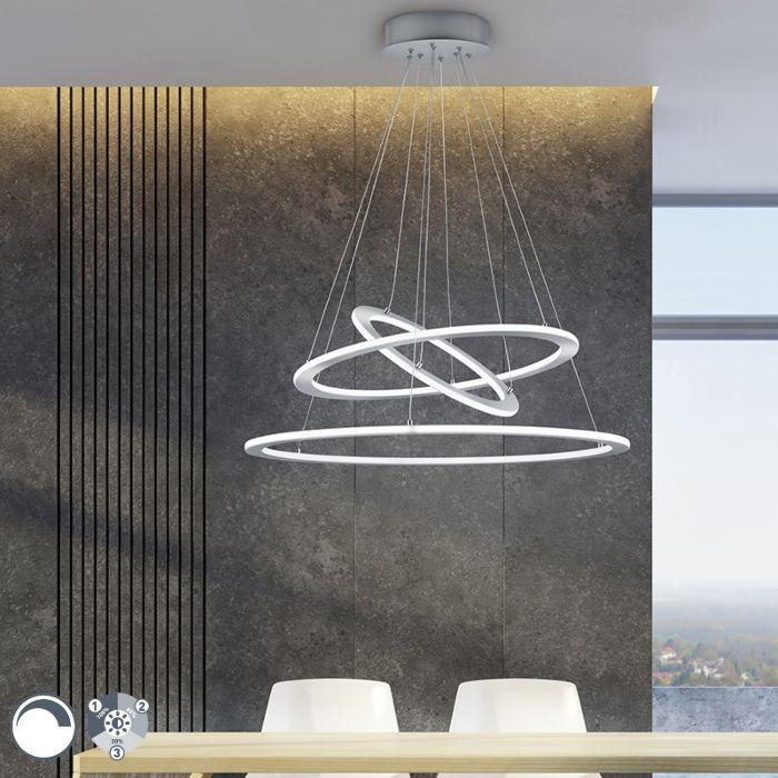 Design-Hängelampe-Stahl-inkl.-LED-3-stufig-dimmbar---Tijn