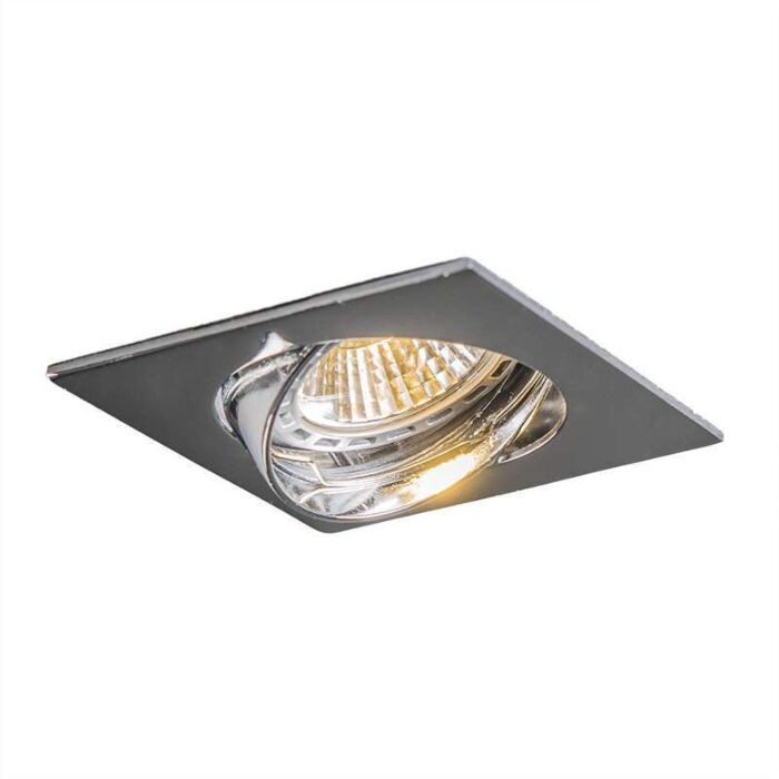 LED-Einbaustrahler-schwenkbar-quadratisch-Chrom---Edu