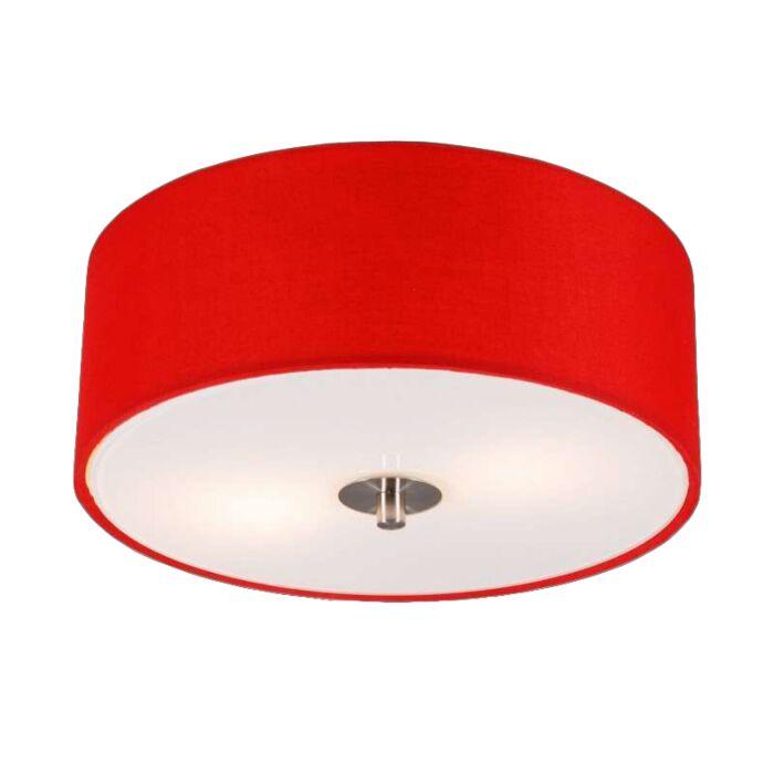 Moderne-Deckenleuchte-rot-30-cm---Trommel