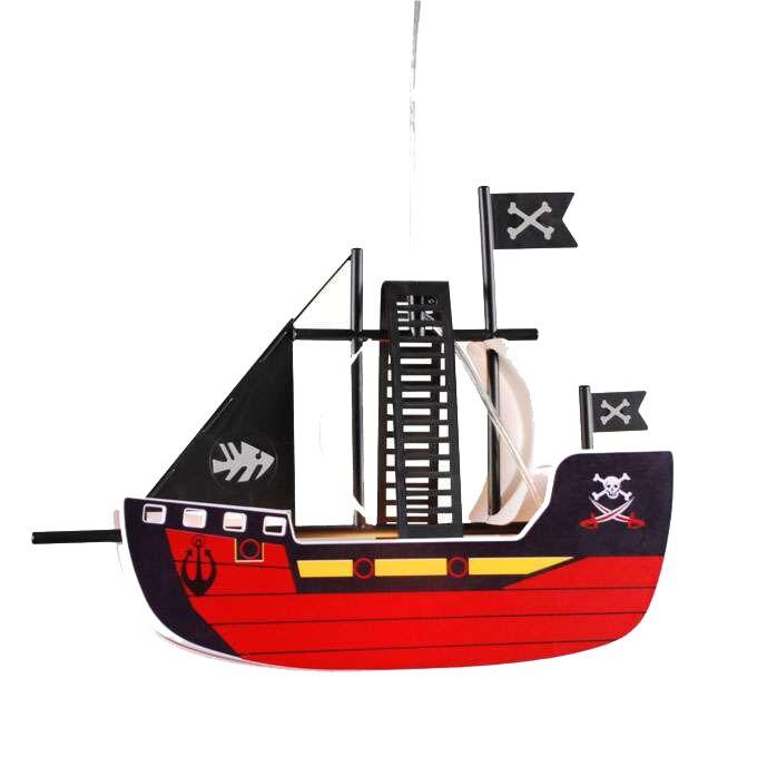 Pendelleuchte-Kids-Piratenschiff