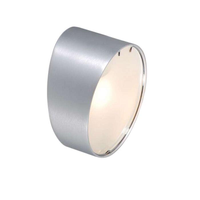 Wandleuchte-Phone-rund-Aluminium