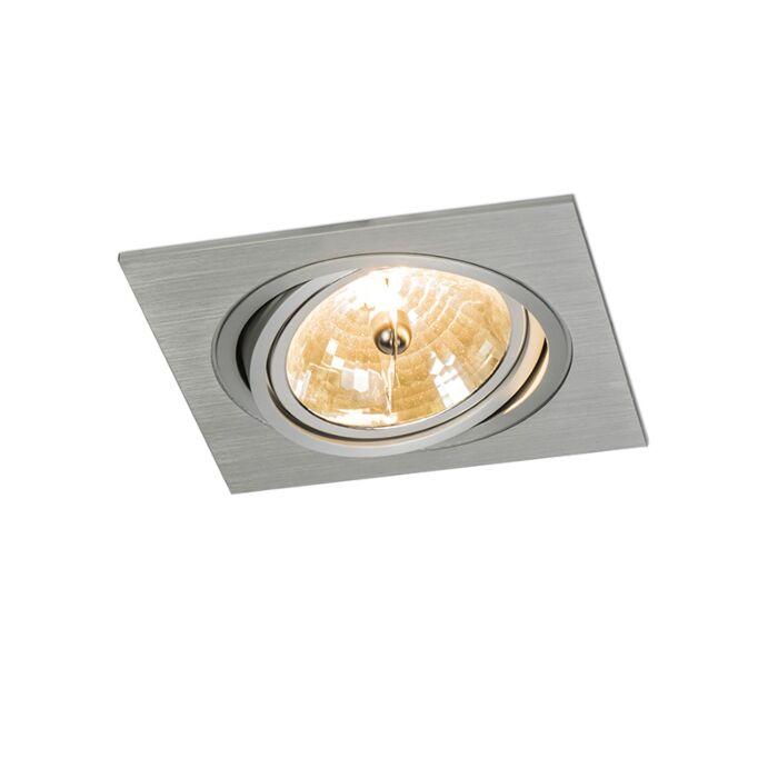 Einbaustrahler-Impact-Quadrat-Aluminium