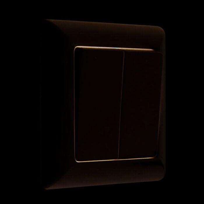 Serien-/Doppelwechselschalter-Basic-weiß-mit-Rahmen