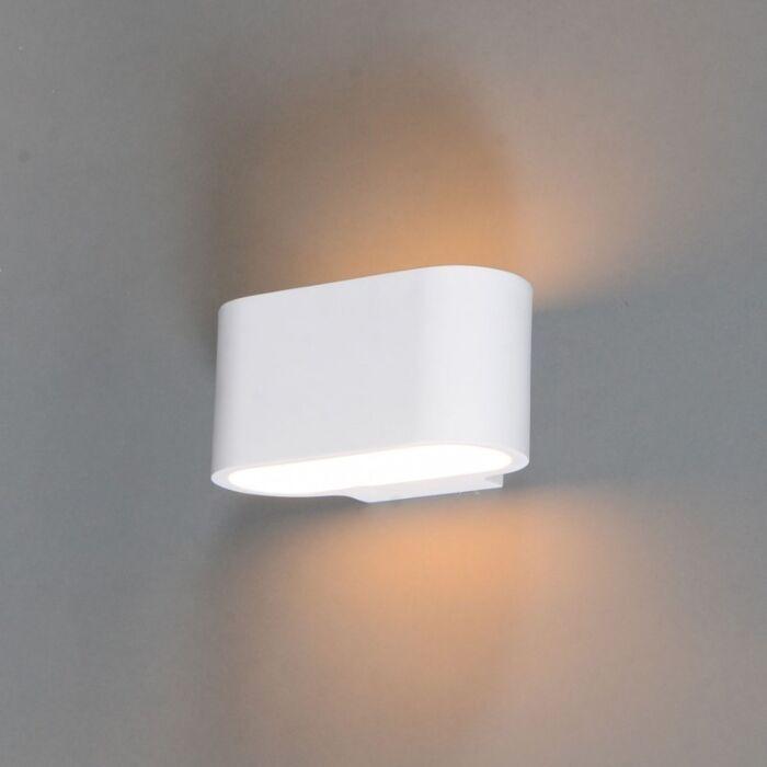Moderne-Wandleuchte-weiß-flach---Gipsy-Arles