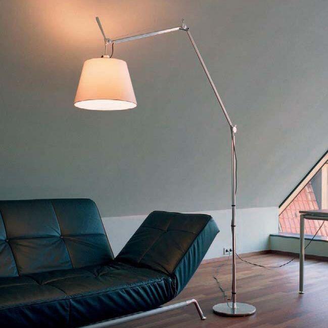 Aluminium-Stehlampe-mit-Schirm---Artemide-Tolomeo-Mega-Terra