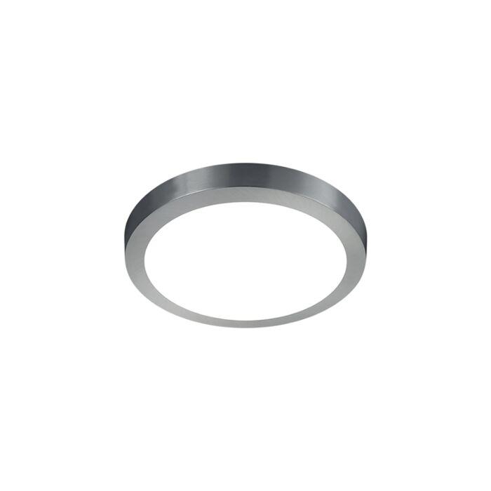 Moderne-runde-Deckenleuchte-Stahl-mit-Glas-inkl.-LED---Boy