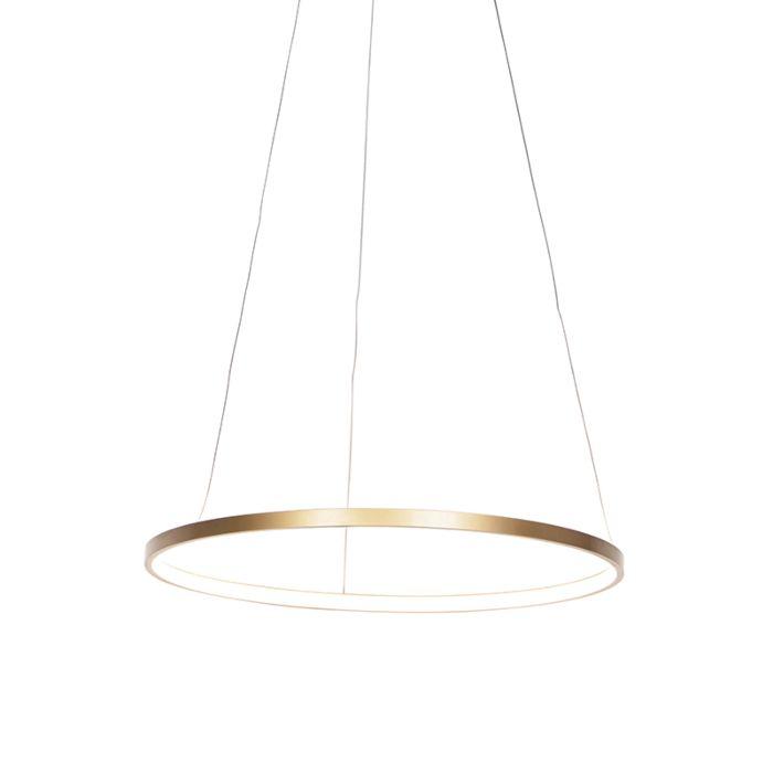 Moderne-Ringpendelleuchte-gold-60-cm-inkl.-LED---Anella