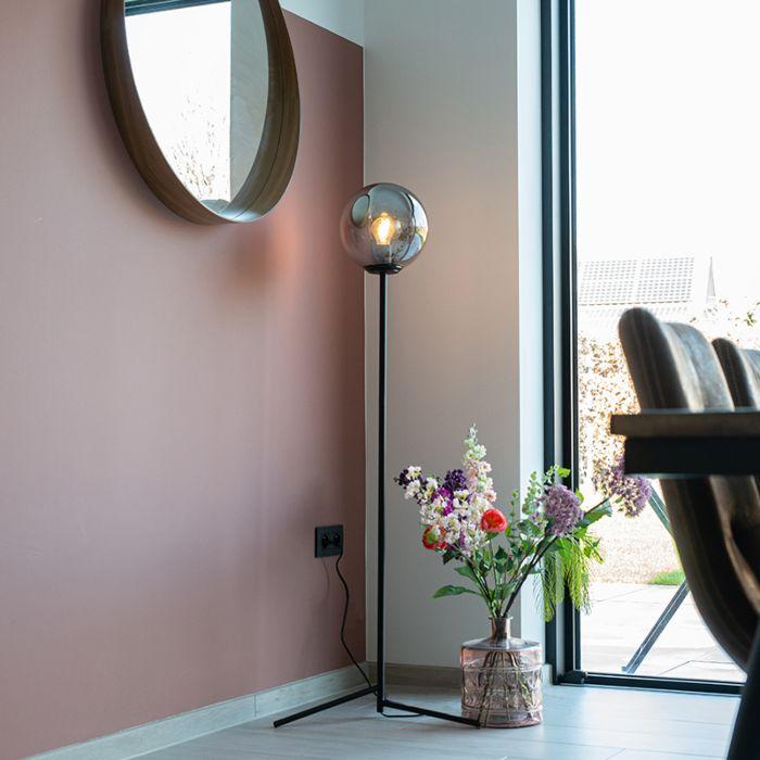 Art-Deco-Stehleuchte-schwarz-mit-Rauchglas---Pallon